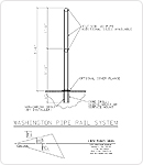 Washington Handrail Line Drawing